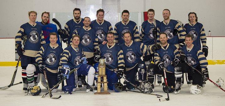 Hockey, Men's League, Minnesota, Team, Together