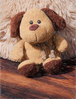 Stuffed Animal, Teddy Bear, Fabric Dog, Brown, Small