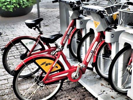 Bike Rental, Bike, Bicycle, Cycle, Transport