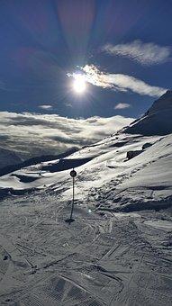 Ski Run, Glacier, Skiing, Winter Sports, Snow, Winter