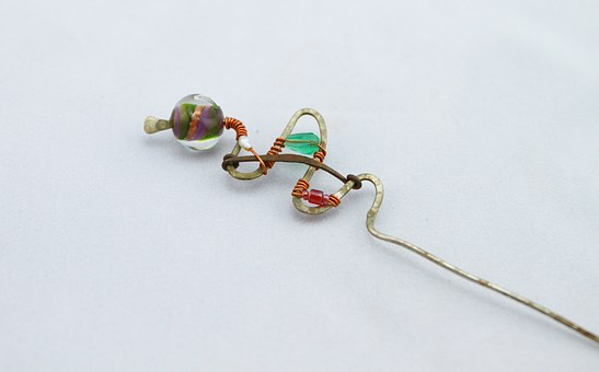 Wire Wrapped Glass Beads, Glass, Beads, Copper Wire