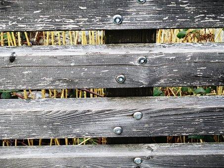 Wood Fence, Wood, Battens, Screwed, Stukturiert
