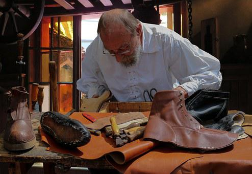 Shoemaker, Middle Ages, Leather, Nuremberg, Workshop