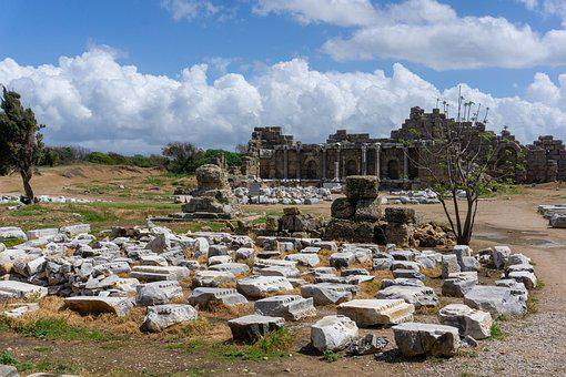 Turkey, Side, Vacations, Antiquity, Travel