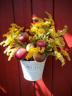 Autumn Bouquet, Apple, Golden Rod, Bouquet, Flowers