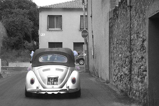Wedding, Volkswagon, Vw Bug, Europe, Auto, Bug, Love