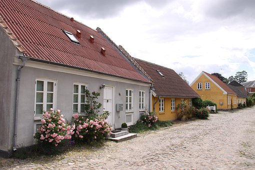 Mariager, Village, Houses, Architecture, Building