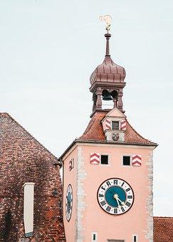 Tower, Regensburg, Middle Ages, Stone Bridge, Building