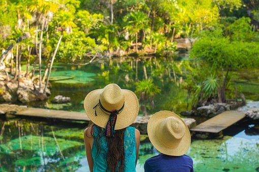 Cancun, Cenote, Adventure, Mexico, Blue, Beauty, Sky