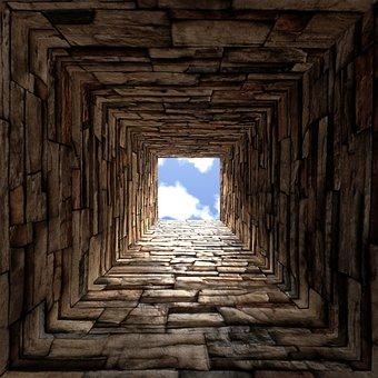 Perspective, Square, Bricks, Construction, Geometric