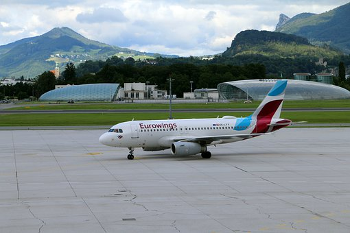 Aircraft, Eurowings, Airport, Flyer, Airliner, Landing