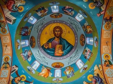 Pantocrator, Jesus Christ, Iconography, Ceiling, Dome