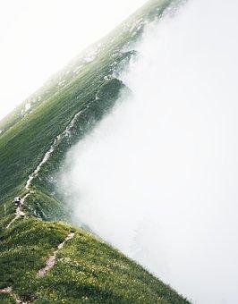 Fog, Alpine, Hiking, Switzerland, Landscape, Mountains