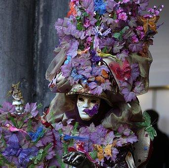 Venice, Mask, Carnival, Masquerade, Facemask, Feather