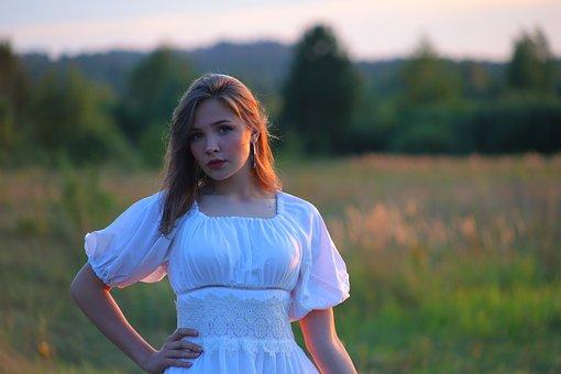 Beauty, Village, Field, Girl, Russia, Nature, Landscape