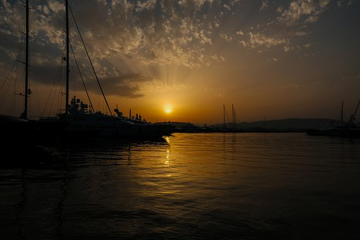 Port, Sea, Ship, Coast, Pier, Of The City, Sunset