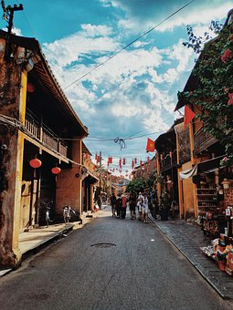 Hoi An Town, Old Town, Vietnam, Brigth, Townscape