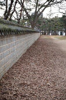 Republic Of Korea, Roof Tile, Damme, Autumn, Old School