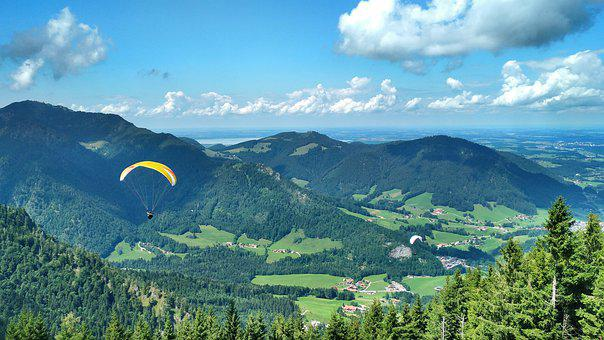 Under The Mountain, Paraglider, Ruhpolding, Chiemgau