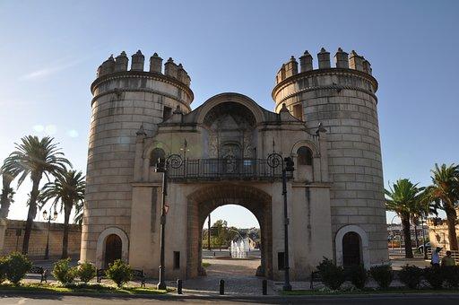 Badajoz, Spain, Extremadura, Rio Guadiana, Bridge