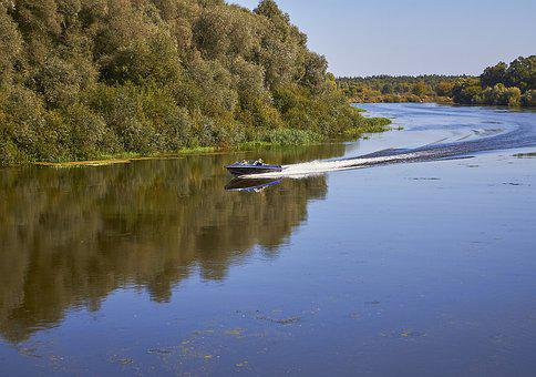 River, Boat, Nature, Water, Sky, Summer, Vacation