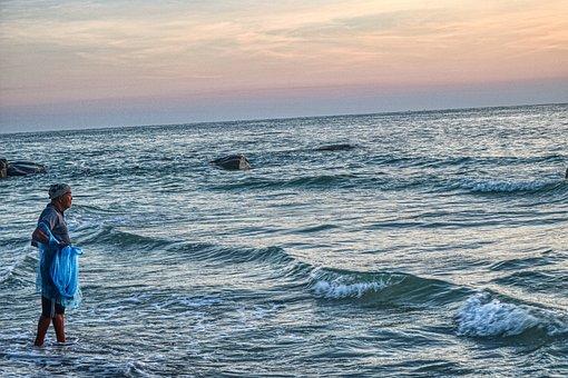 Thailand, Beach, Web, Sky, Water, Light, Person