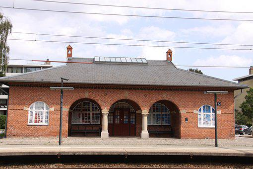 Skodsborg, Station, Train Station, Track, Travel