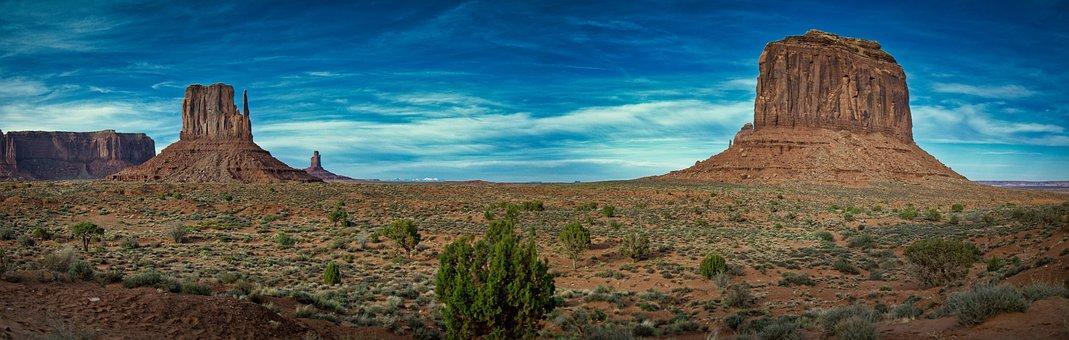 Monument Valley, Usa, Arizona, Desert, Landscape
