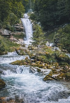 Giessbach Falls, Switzerland, Waterfall, Waterfalls