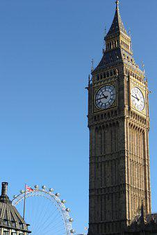 London, Big Ben, Church, England, Travel, Clock