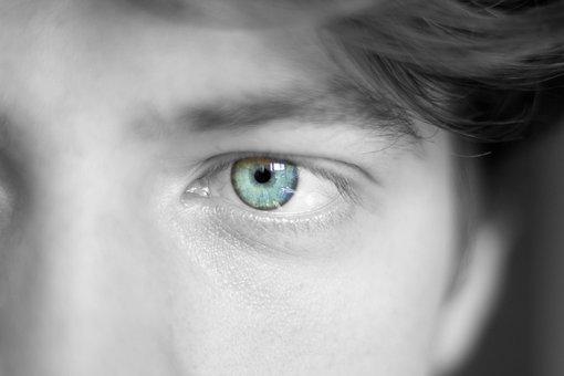 Eye, Eye Color, Face, Pupil, Iris, Blue, Colorful