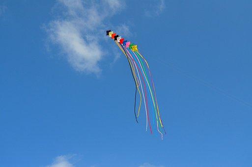 Dragons, Kite, Kite Flying, Borkum, Flying Kites