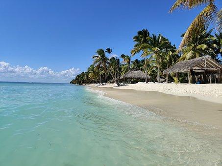 Saona, Beach, Island, Wave, Blue, Exotic, Caribbean