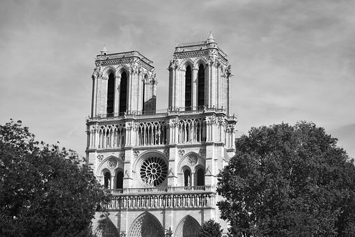 Nagar, Paris, Black And White, Cathedral