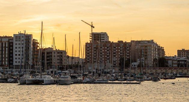 Boats, Building, City, Construction, Crane, Harbour