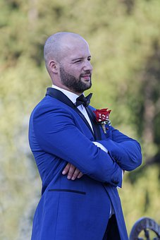 Man, Person, Young, Groom, Event, Marriage, Portrait