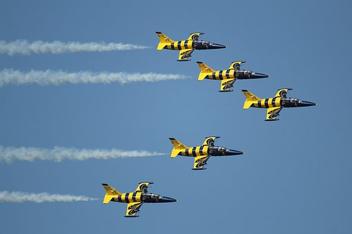 Airplanes, Formation, Jets, Airshow, Military, Team