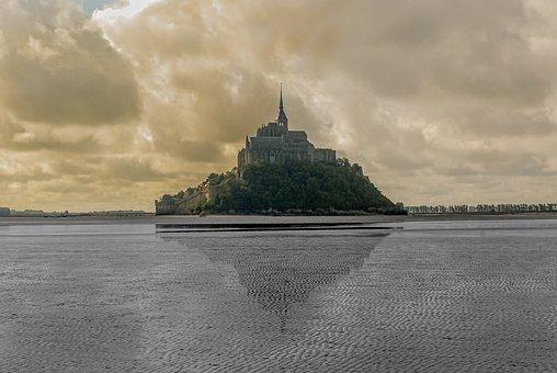 Mont Saint Michel, France, Normandy, Abbey, Castle