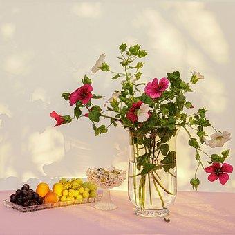 Still Mallow Life, Bouquet, Flower Vine, Fruit Bowl