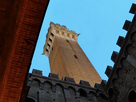 Sienna, Italy, Sculpture, Tuscany, Building