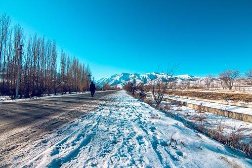 Kyrgyzstan, Nature, Mountains, Landscape, Clouds