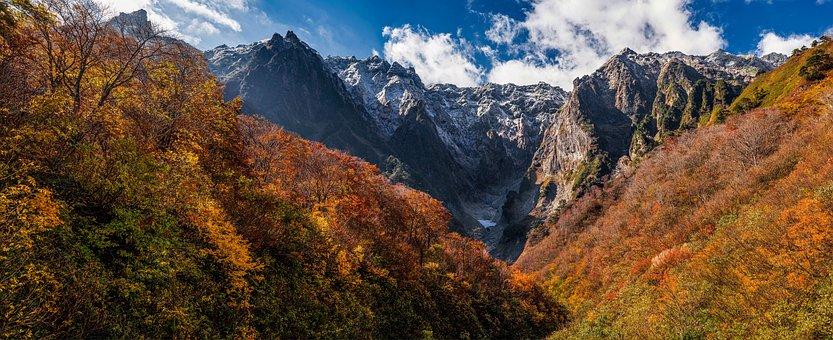 Landscape, Panorama, Mountain, Late Autumn