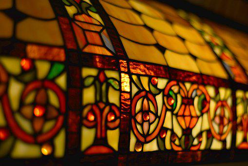 Lamp, Stained Glass, Coloured, Atmosphere, Light