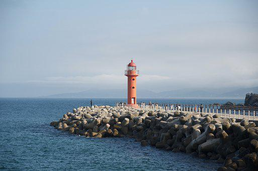 Lighthouse, Light House, Sea, Coast