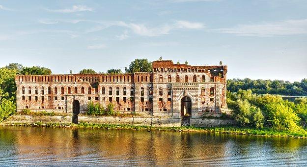 Narev, Water, Poland, River, Nature, Monument, Modlin