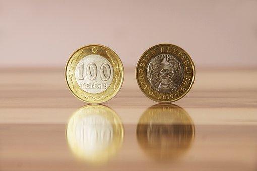 Kazakhstan, Money, Currency, Tenge, Coins, Wealth