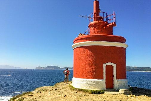 Lighthouse, Ocean, Sea, Costa, Sky, Landscape