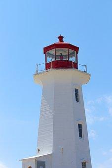 Lighthouse, Peggy's Cove, Coast, Canada, Ocean, Tourism