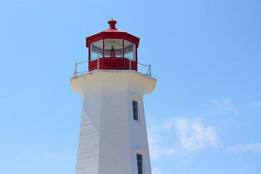 Peggy's Cove, Waterfront, Lighthouse, Sky, Summer