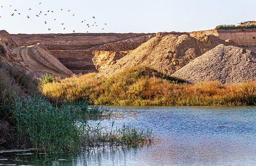 Pit, Lake, Pumice, Water, Landscape, Renaturation